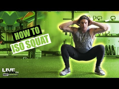 How To Do An ISOMETRIC SQUAT   Exercise Demonstration Video and Guide