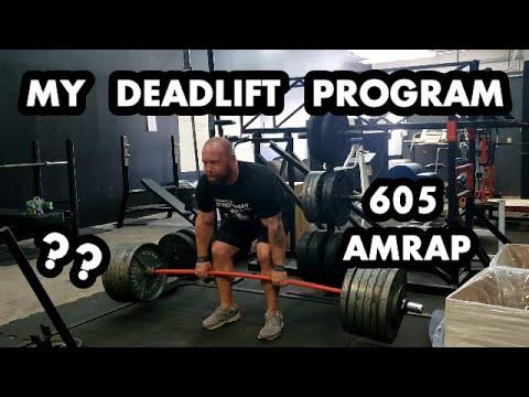 655/605lb Deadlift AMRAP PLUS My Off-Season Volume Program + Contest Peak - Strongman Nationals Prep