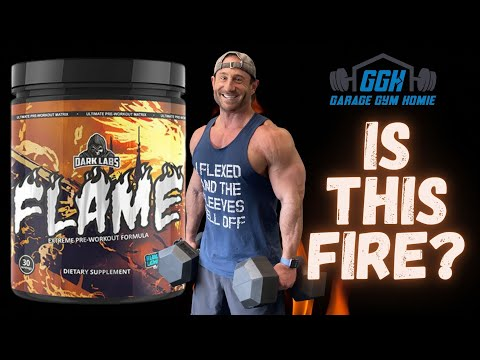 Dark Labs Flame Pre-Workout Review - SOOOOO MANY STIMS OMG!!!!!! BEST HARDCORE DMHA PRE WORKOUT ????