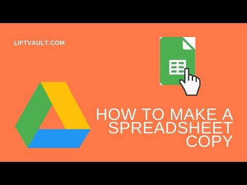How to Make a Copy of a Spreadsheet   LiftVault.com