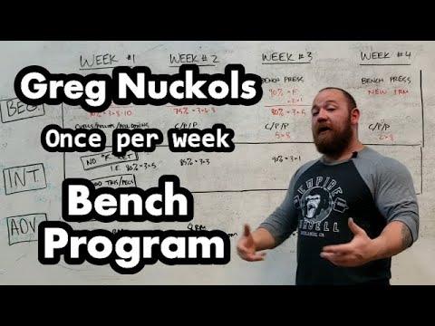Greg Nuckols 28 Free Programs - Once per Week Bench Press Program, Beginner, Intermediate, Advanced