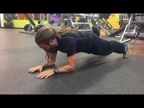Plank with Alternate Arm Raise