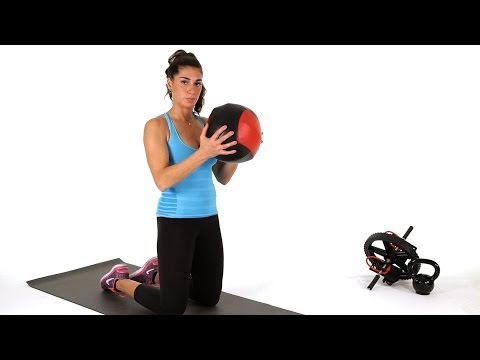 How to Do Kneeling Chops w/ Medicine Ball   Abs Workout
