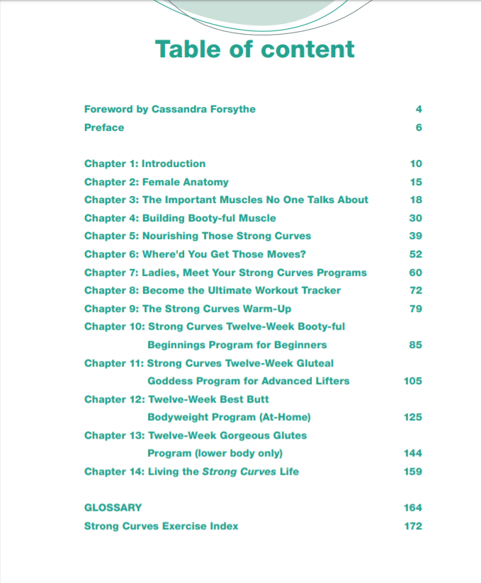 Strong Curves Table of Contents