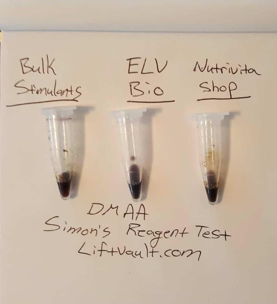 DMAA Simons Reagent Test