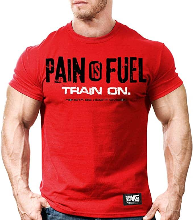 Pain is Fuel bodybuilding t-shirt