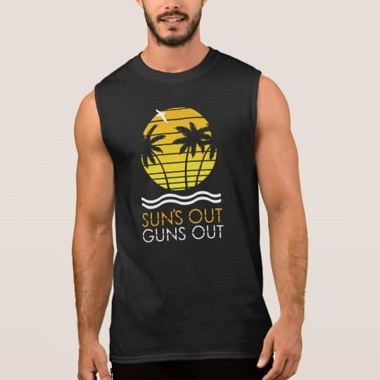 suns out guns out bodybuilding t-shirt