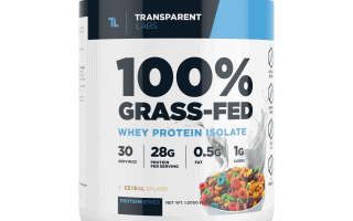 Grass Fed Whey Protein Isolate by Transparent Labs