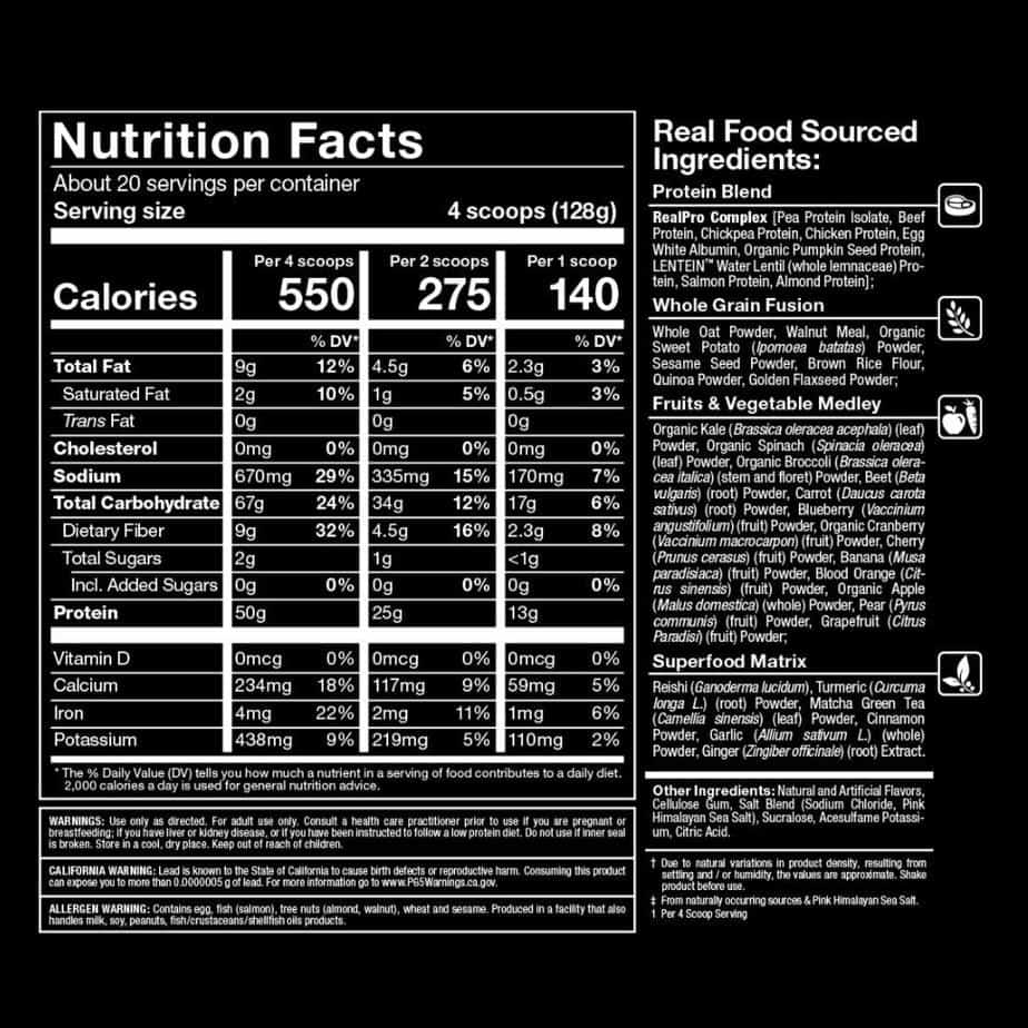 Rule 1 Mass Gainer Ingredients List
