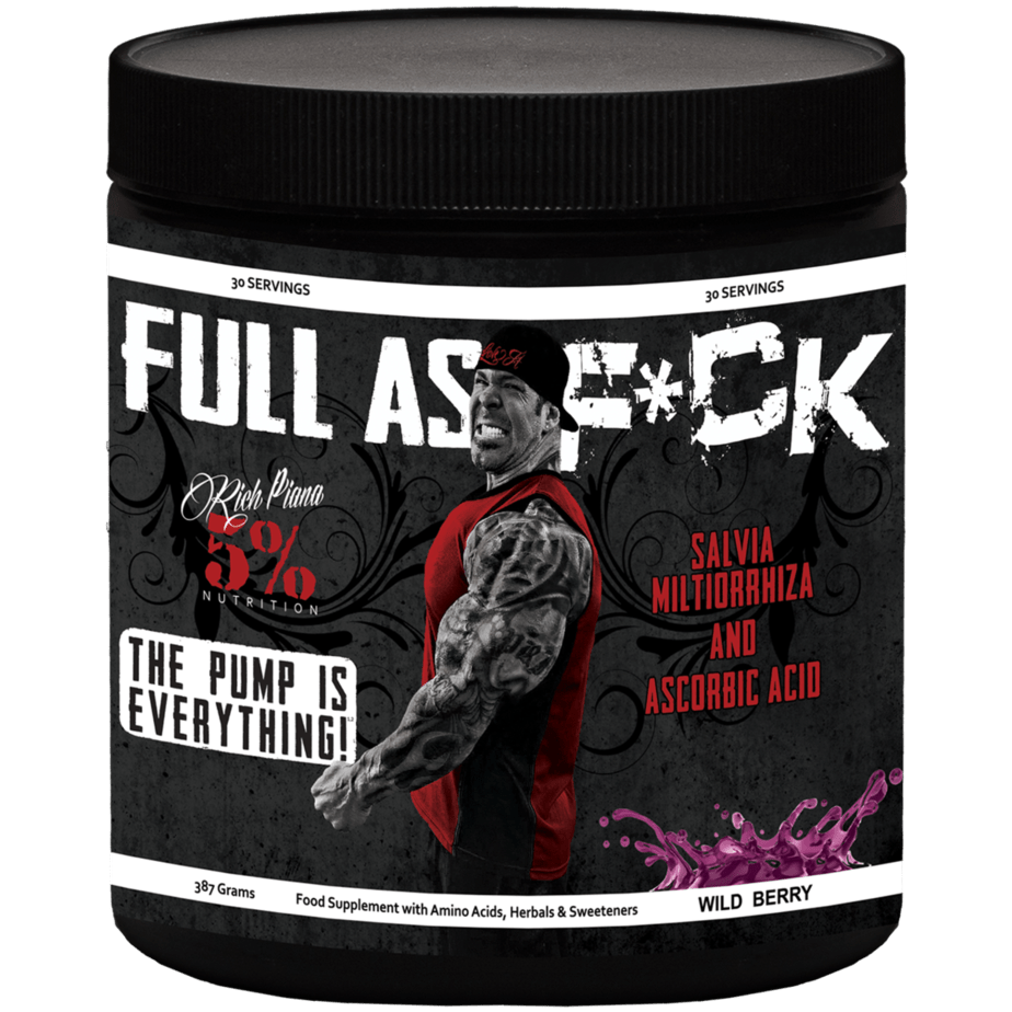 Full As F*ck Nitric Oxide & Pump Supplement - 5% Nutrition