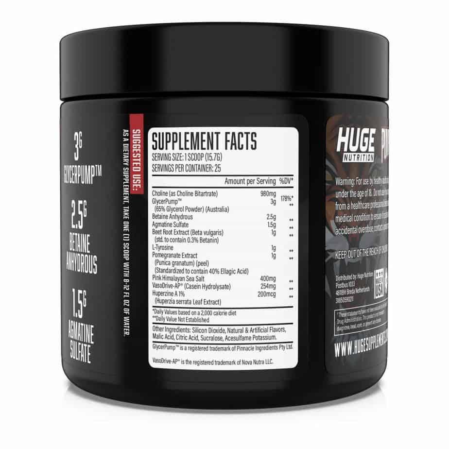 Pump Serum Ingredients Label
