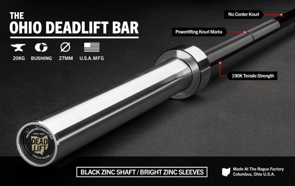 Rogue Ohio Deadlift Bar Black Zinc
