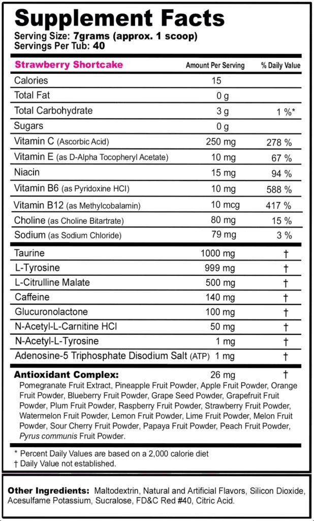 G Fuel Energy Formula Ingredients Label (new)