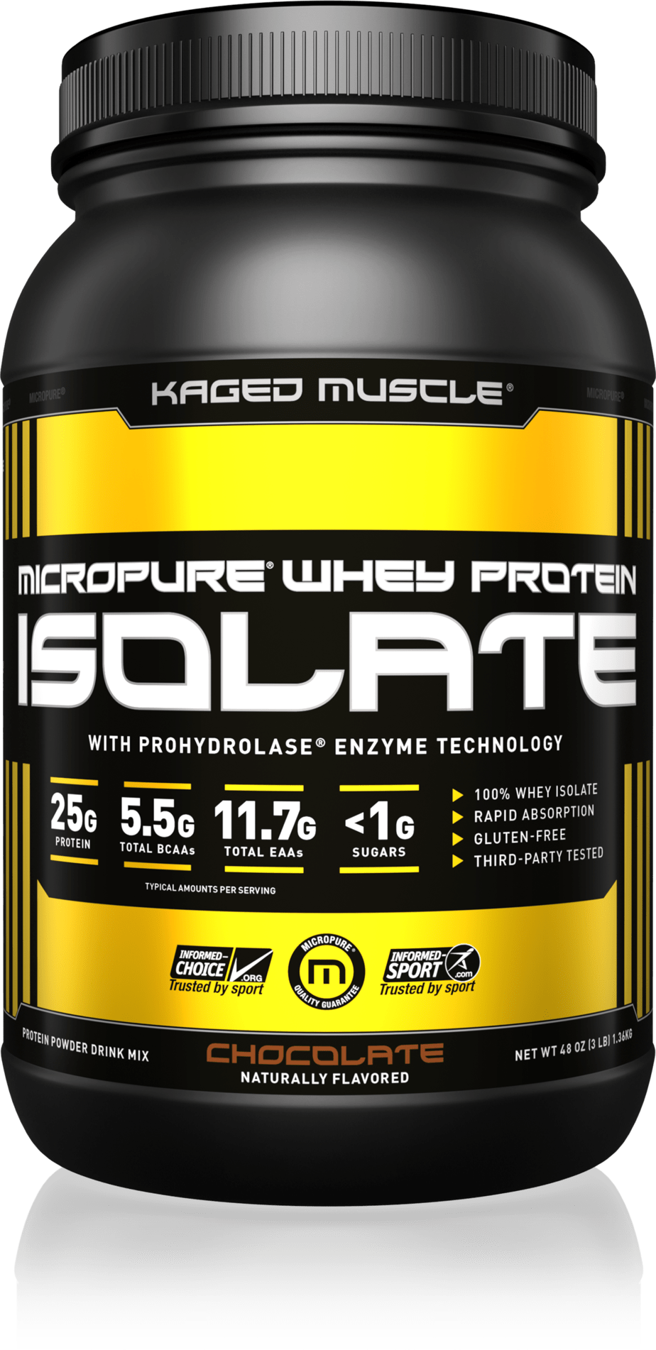 MicroPure Whey Protein Isolate Powder (Kaged Muscle)