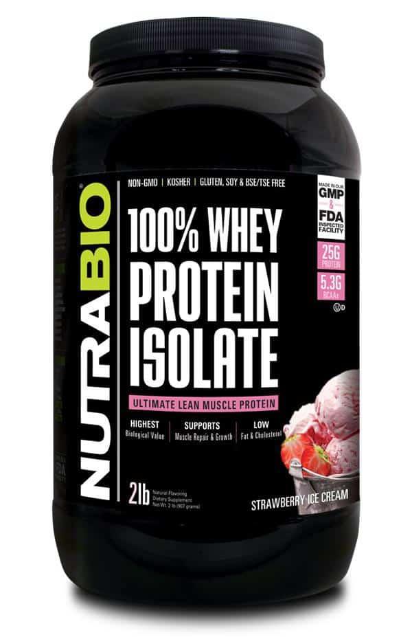 100% Whey Protein Isolate (NutraBio)