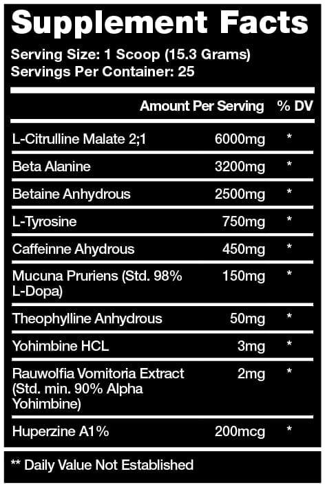 Cannibal Ferox Ingredient Label