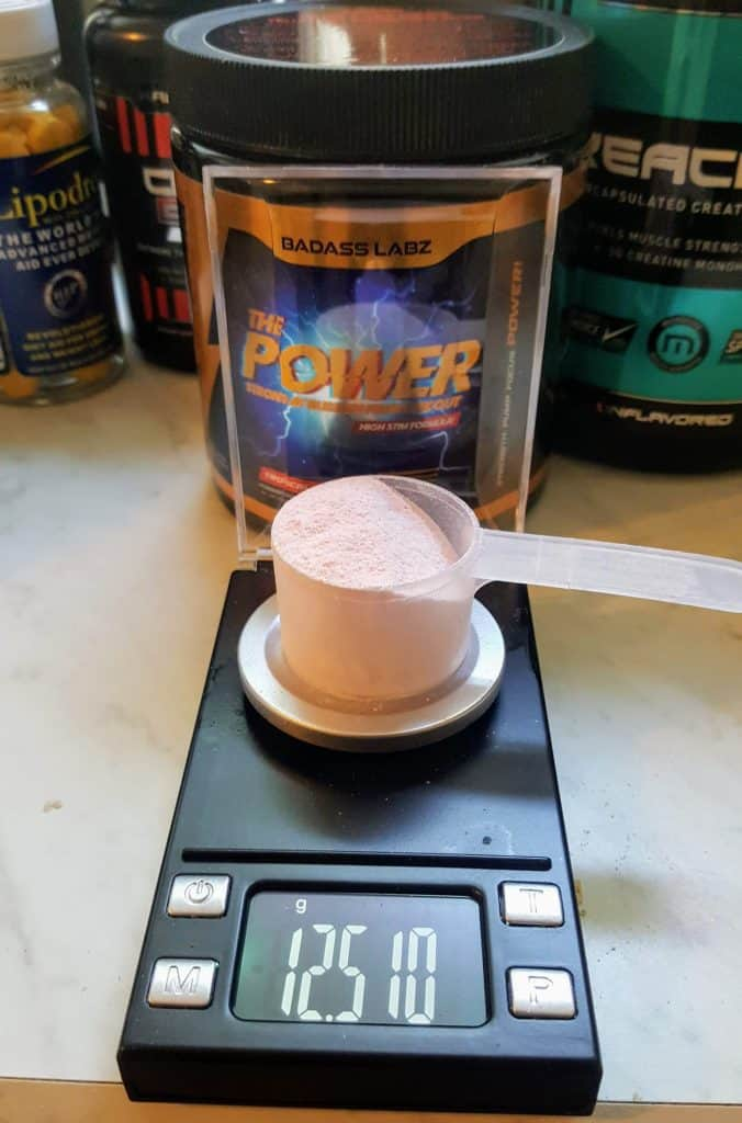 The Power Pre Workout Scoop Size