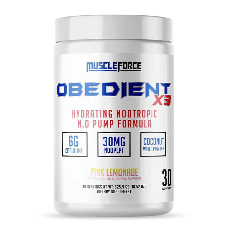 Obedience X3 Pre Workout - Muscleforce
