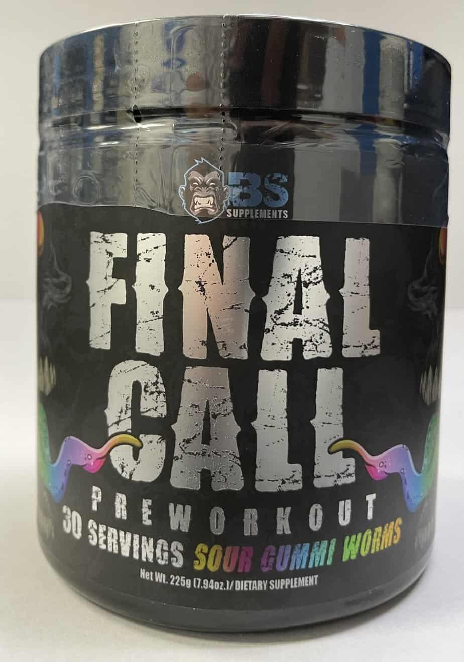 Final Call Pre Workout - BS Supplements