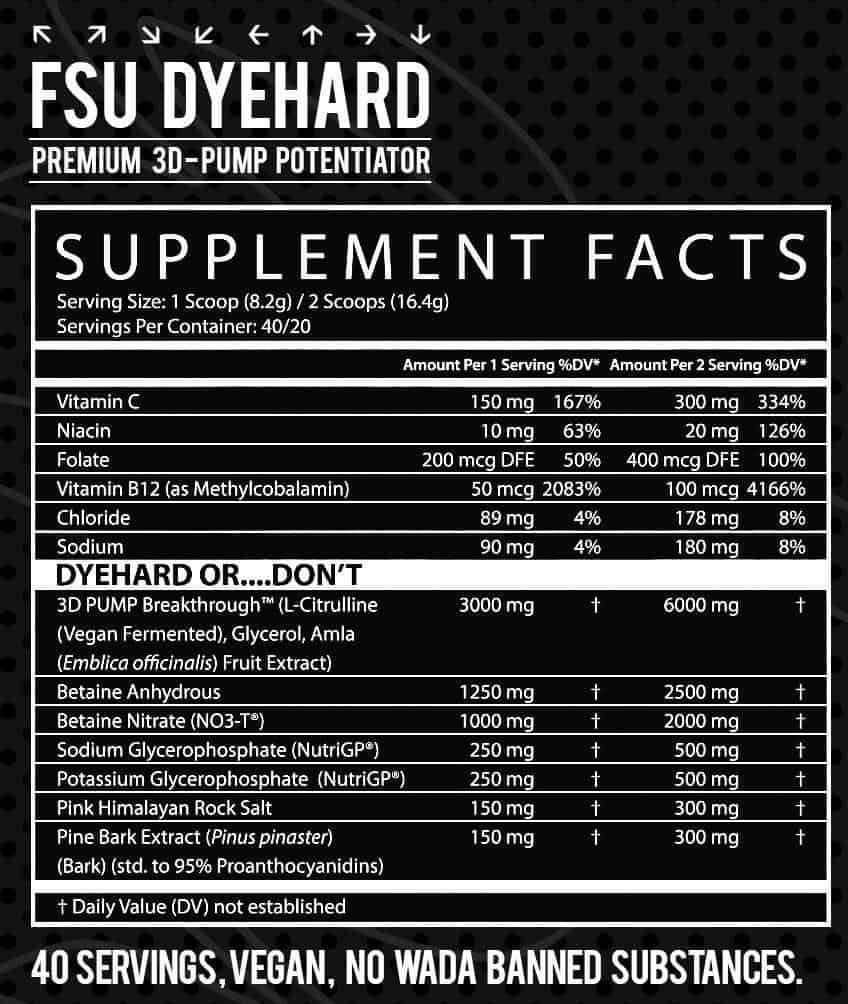 FSU Dyehard Pre Workout